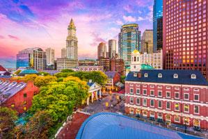 A picture of Boston, MA