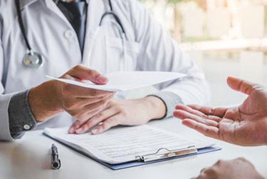 Doctor prescribes medication for depression