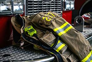 A firefighter's jacket