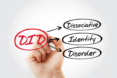 """Marker writing out """"Dissociative identity disorder"""""""