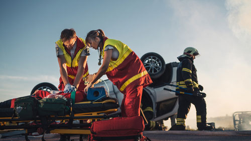 First responders to the scene of an overdose