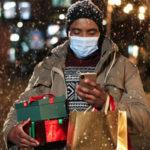 Man going through the holidays in quarantine